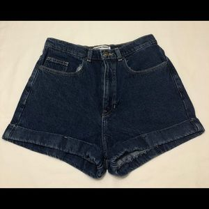 American Apparel Jeans Dark Wash High Waist Cuff